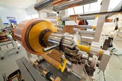 Copper foil bending machine Stock Photos