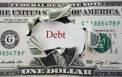 red debt - stock photo