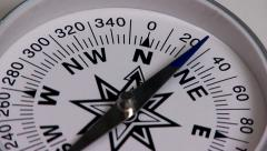 Compass orientation to the north Stock Footage