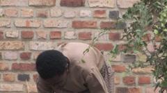 Rwandan Farmer Stock Footage