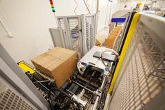 Food packing and sorting industry equipment Stock Photos
