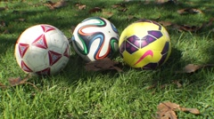Close up Shot of Soccer Balls 2 Stock Footage