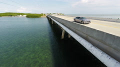 Highway 1 in the Florida Keys Stock Footage