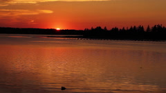 Sunset on the water Stock Footage