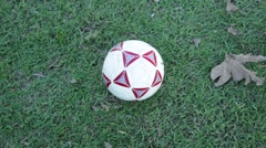Foot on Soccer Ball Stock Footage