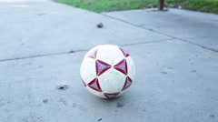Hands Take Soccer Ball 2 Stock Footage