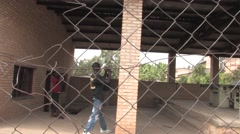 African Students On the Street In Rwanda Stock Footage