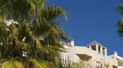 Seafront housing Southern Spain Stock Footage