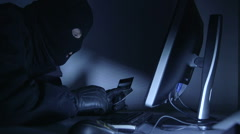 Cyber crime credit card fraud Stock Footage