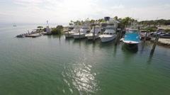 Boats in a marina, Florida Keys 4K footage Stock Footage