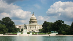 4k Time Lapse of US Capital Building Stock Footage