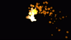 Stock Video Footage of 4k firecracker particle spot firework,pyrotechnics welding soldering sparks.