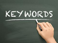 Keywords word written by hand Stock Illustration