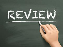 Review word written by hand Stock Illustration