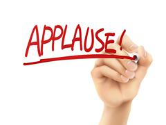 Stock Illustration of applause word written by hand