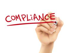 Stock Illustration of compliance word written by hand