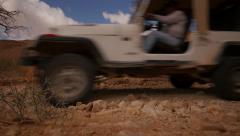Desert Jeep pass by la side 4K Stock Footage
