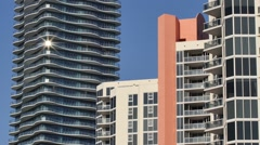Highrise buildings with glare Stock Footage
