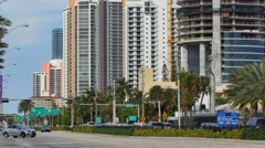 Sunny Isles Beach northbound view Stock Footage