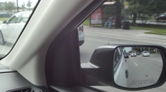 Rear view mirror Stock Footage