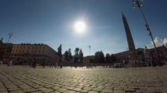 Italy Rome Piazza Popolo panoramic time lapse Stock Footage