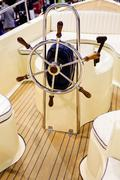 speedboat detail - stock photo