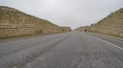 Lonely Texas desert highway Stock Footage