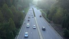 traffic drives along road out of asheville, nc, usa - stock footage
