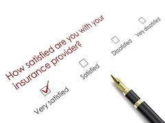 Tick placed in very satisfied check box Stock Illustration