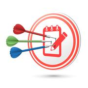 Service concept target with darts hitting on it Stock Illustration