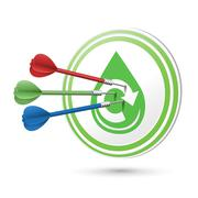 Water resource icon target with darts hitting on it Stock Illustration