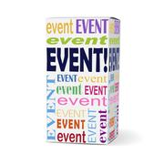 Event word on product box Stock Illustration