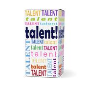 Talent word on product box Stock Illustration