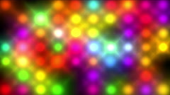 4k Color neon point matrix,nightclub bar disco led light in stage background. Stock Footage
