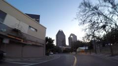 Downtown San Antonio 4 drivethrough Stock Footage