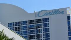 Carillon Hotel Miami Beach Stock Footage