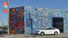 Wynwood art walls 10 Stock Footage