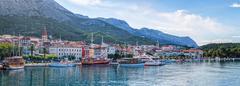 panorama makarska  - stock photo