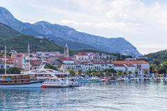 view of makarska panorama - stock photo