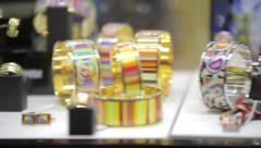 jewelry accessories gems diamonds treasures - stock footage