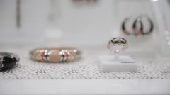 jewelry accessories gems diamonds treasures - stock footage