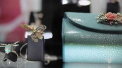 Jewelry accessories gems diamonds treasures Stock Footage