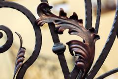 wrought iron - stock photo