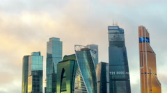 Moscow International Business Center so-called Moscow-City skyscrapers 8 Stock Footage