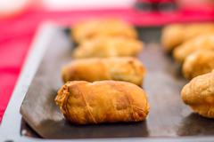mini croissants - stock photo