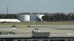 Fuel Storage Tanks, Gasoline, Oil, Energy, Airplanes Stock Footage