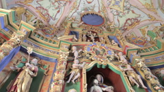 Baroque style chapel Stock Footage