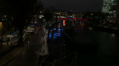 Vienna at night 1 - stock footage