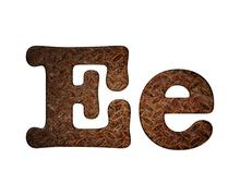 letter e rusty metal. - stock illustration