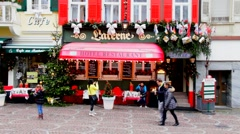 Small hotel  at Christmas. Baden-Baden 2 Stock Footage